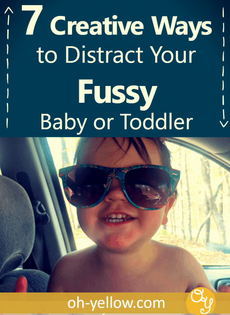 Young toddler activities to redirect your fussy baby's bad mood! Distract your fussy little one and reset tantrums with these simple toddler activities and awesome tips!