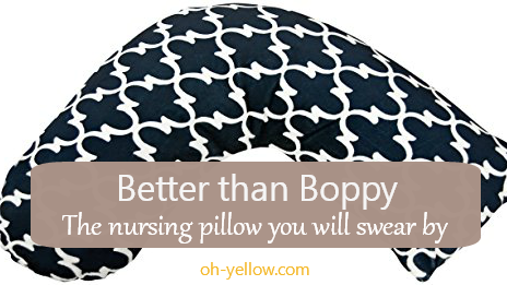 The nursing pillow you39ll like better than a boppy oh yellow for Better than my pillow