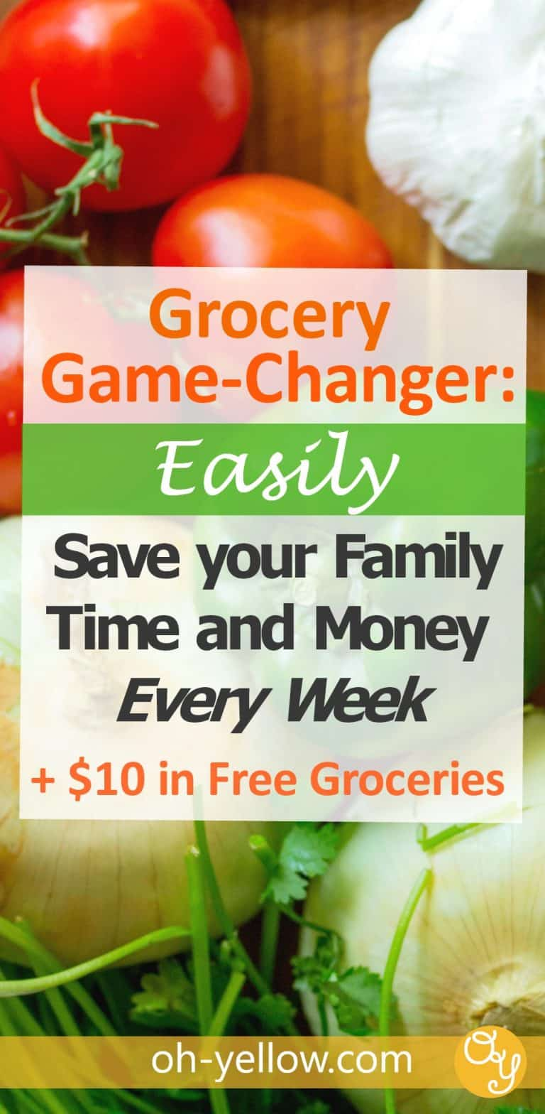 Save money on groceries and spend less time at the grocery store. This is a MUST for moms. Finally stick to your budget with this one easy tip AND get $10 in free groceries! Here's how to change how you shop for groceries...and it's awesome...