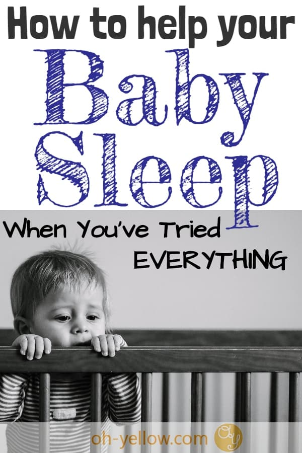 Baby sleep is HARD! Everyone is exhausted when baby won't sleep through the night, nap, or sleep in a crib. If your baby isn't sleeping and only naps while being held, this tip may be a game-changer. It was for me! #baby #babysleep #babysleeptips #newborn #sleeptraining #babytips #newmom #newparentadvice #momhacks