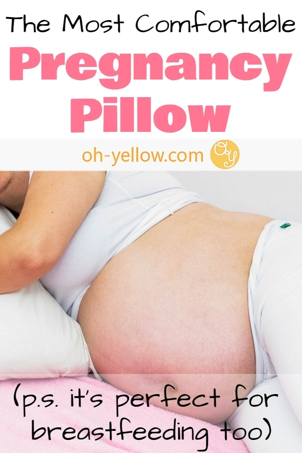 The best nursing pillow! This thing is perfect for mom's maternity pillow in pregnancy, for a super comfortable breastfeeding pillow, AND for baby's tummy time pillow. It's even better than the Boppy pillow...