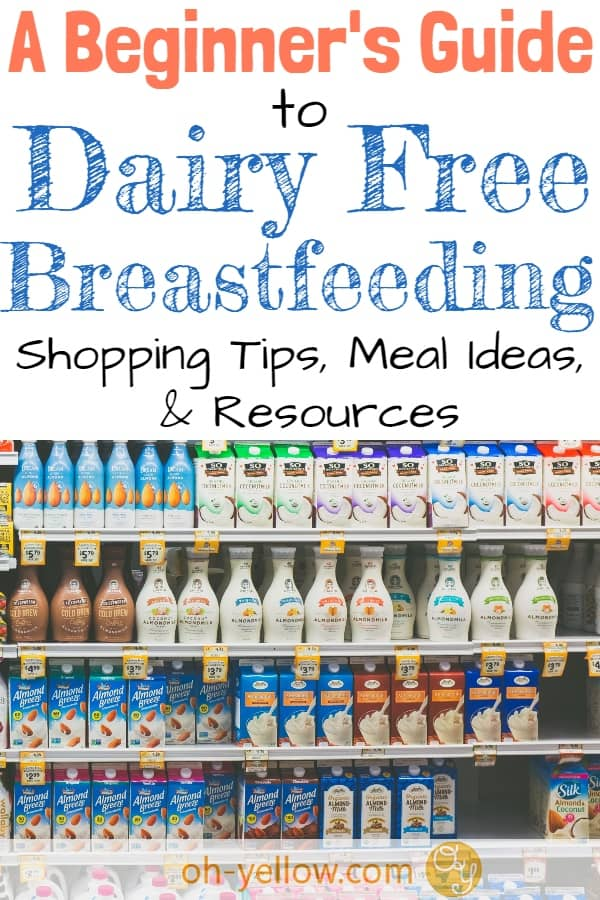 Dairy free breastfeeding tips! Amazing advice for going dairy free for breastfeeding a baby with a cow's milk protein allergy or intolerance. (CMPA or CMPI.) #dairyfree #breastfeeding #newmom #baby #newborn #cmpa #cmpi #mspi