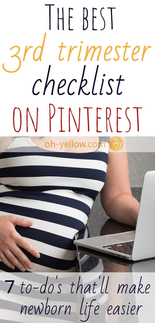 Pregnant? This Third Trimester Checklist is PERFECT for preparing for baby. Last minutes must-do's for your 3rd trimester. #pregnancy #baby #thirdtrimester #babies #pregnant #newmom #maternity #labor #momtobe