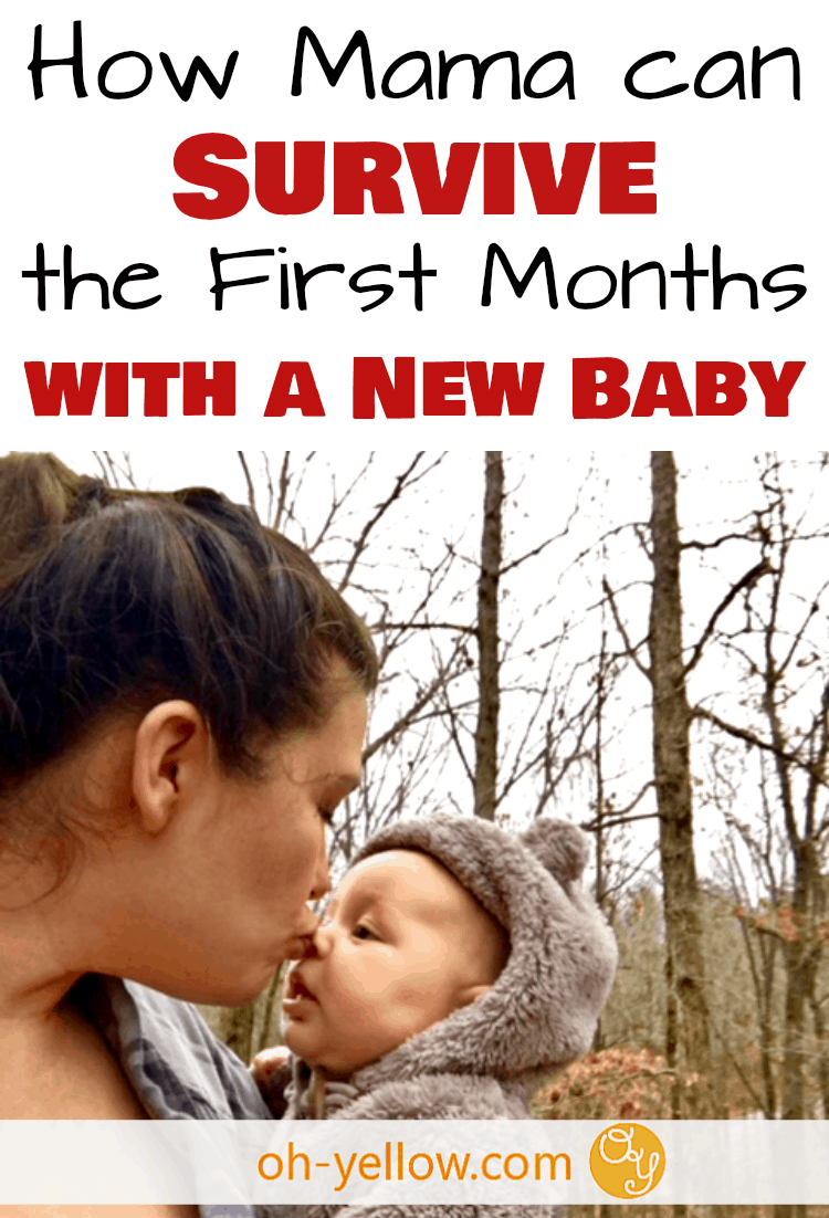 How to survive the first months with a new baby. Whether you're a new mom with your first baby, second baby, or more, these awesome tips will help you relax during postpartum and the fourth trimester. New Mom Survival...