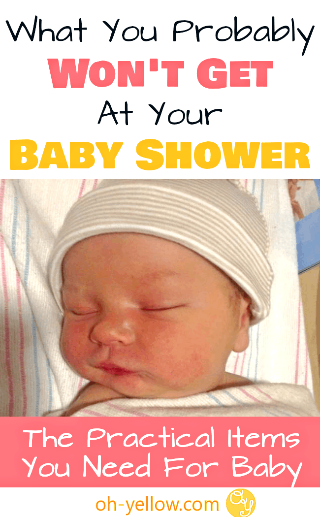 Practical baby items that you probably won't get at your baby shower