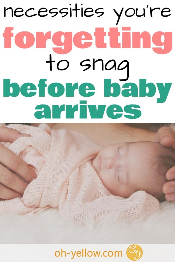 If you're pregnant, stock up before baby arrives. These practical baby items will have you ultra prepared for everything you need for baby. These inexpensive items are perfect for your life as a new mom. #baby #pregnant #newborn #newmom #pregnancy #prepareforbaby #babyitems #babygear #babyregistry #babystuff
