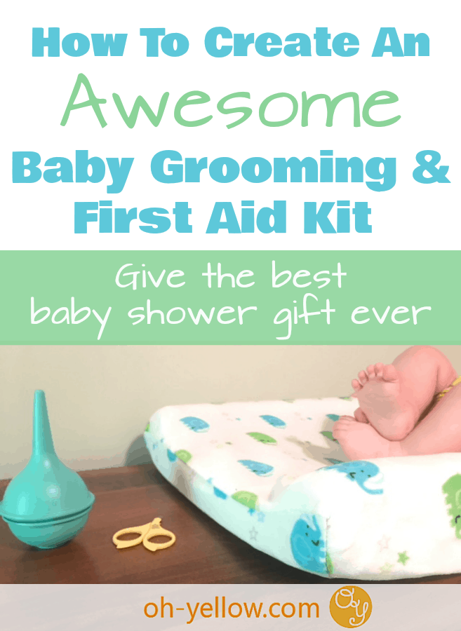 Baby Grooming Kits are a must-have for caring for new babies, but most pre-made kits are junk! Click through to see how to create the best Baby Grooming Kit and Baby First Aid Kit with the very best items you need for baby. Use quality products that will last! This is the perfect gift idea for a baby shower!