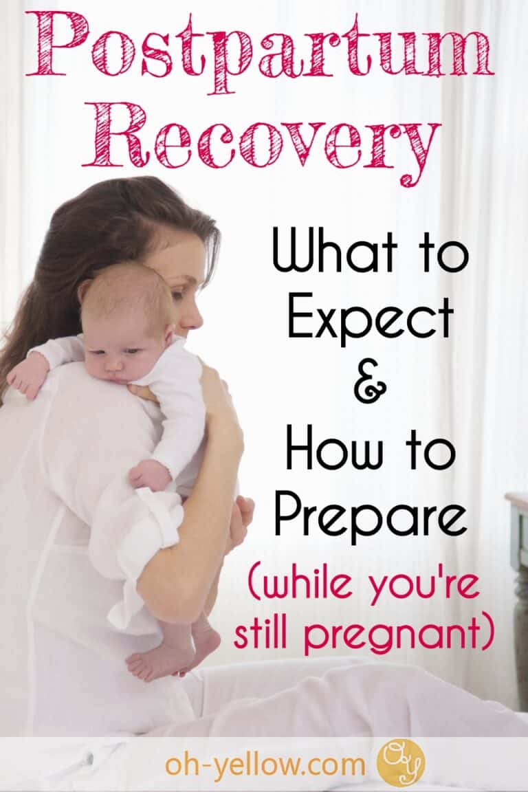 New mom during postpartum recovery