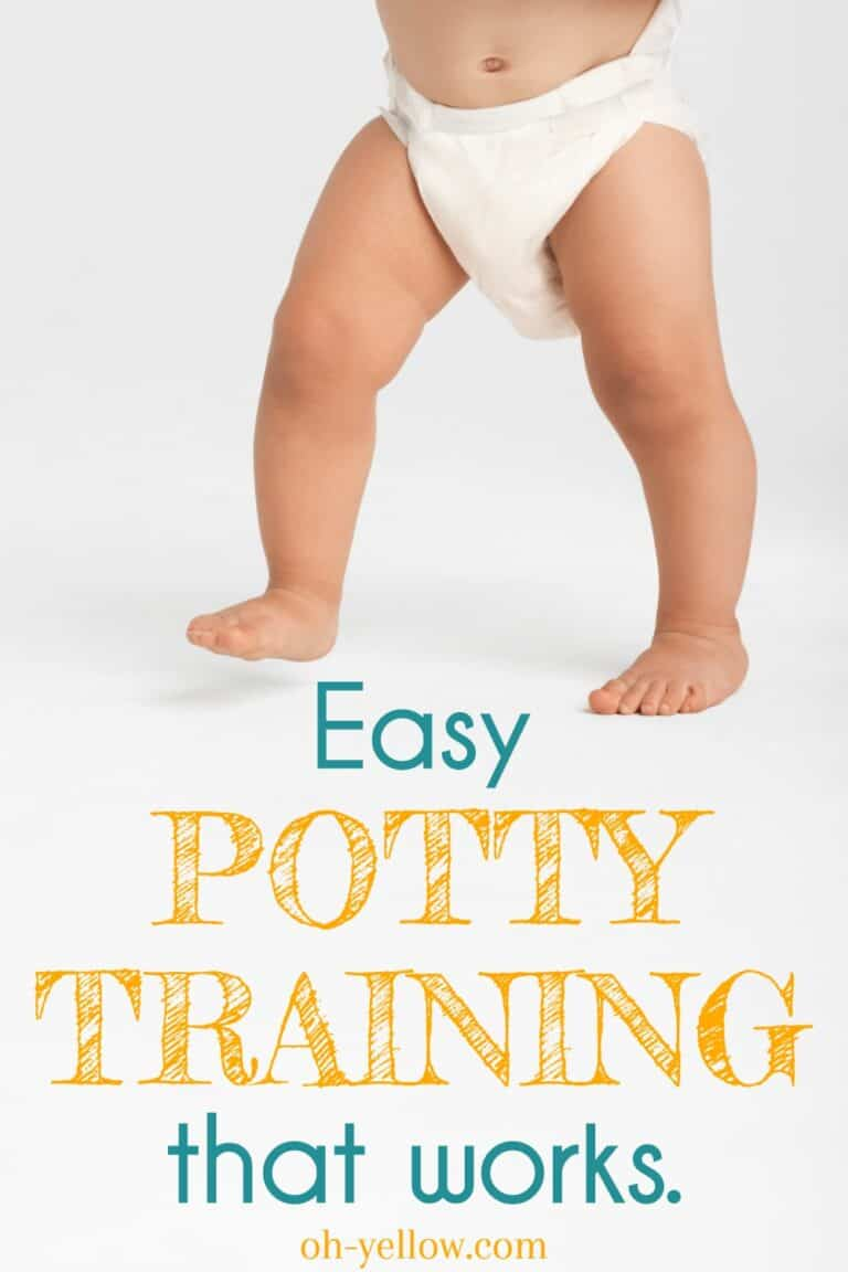 Toddler ready for potty training