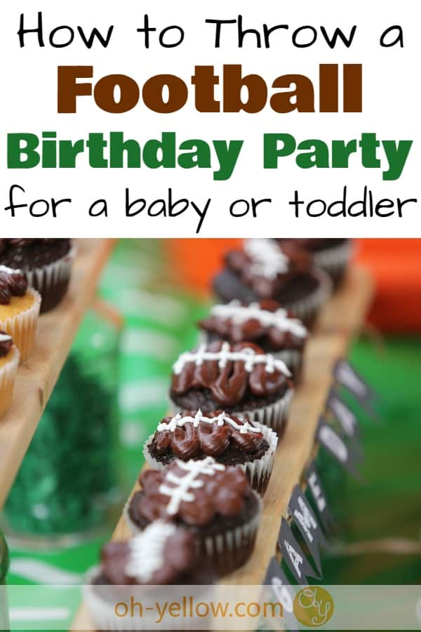 Football Birthday Party theme ideas for toddlers or baby's first birthday. Tailgate Football Party decorations, food ideas, party supplies & more cute tips. #football #footballmom #birthdayparty #firstbirthday #birthdaydecoration #birthdayparty #tailgating #birthday