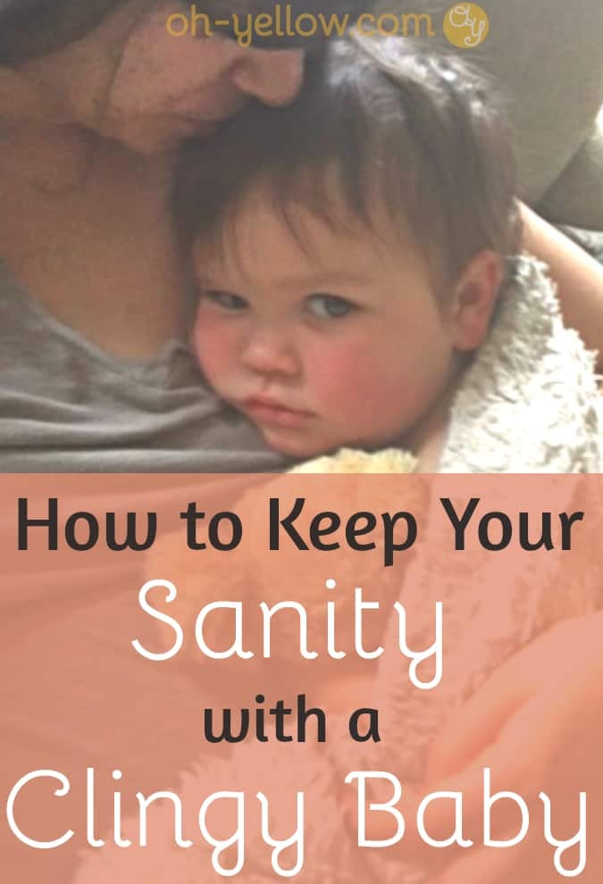 Separation anxiety in a baby or toddler can be rough! These tips on how to deal with a clingy baby or a clingy toddler are life-savers! #baby #toddler #newmom #newparentadvice #parenting #newborn #newbaby #babytips #momlife