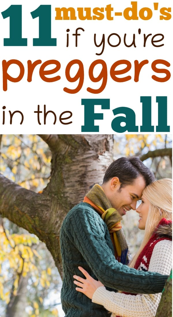 Must-do's if you're pregnant in fall!
