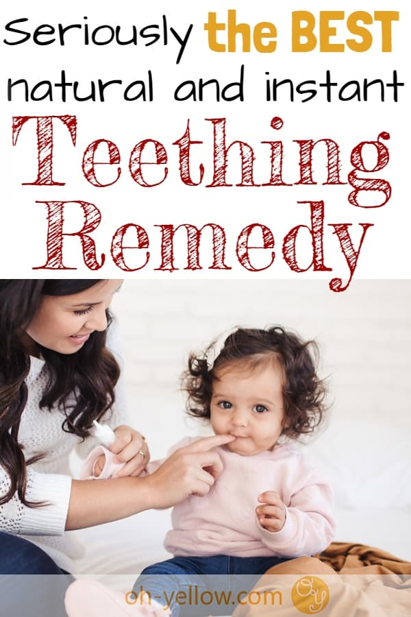 Teething remedies for babies are a must for new moms! Help a teething baby with a soothing, natural teething remedy that works right away and lasts longer than other teething products. This safe teething gel is natural and doesn't contain the dangerous ingredients of other products. #teething #baby #naturalbaby #teethingremedy #newmom #momhacks #momlife #toddler #teethingremedies