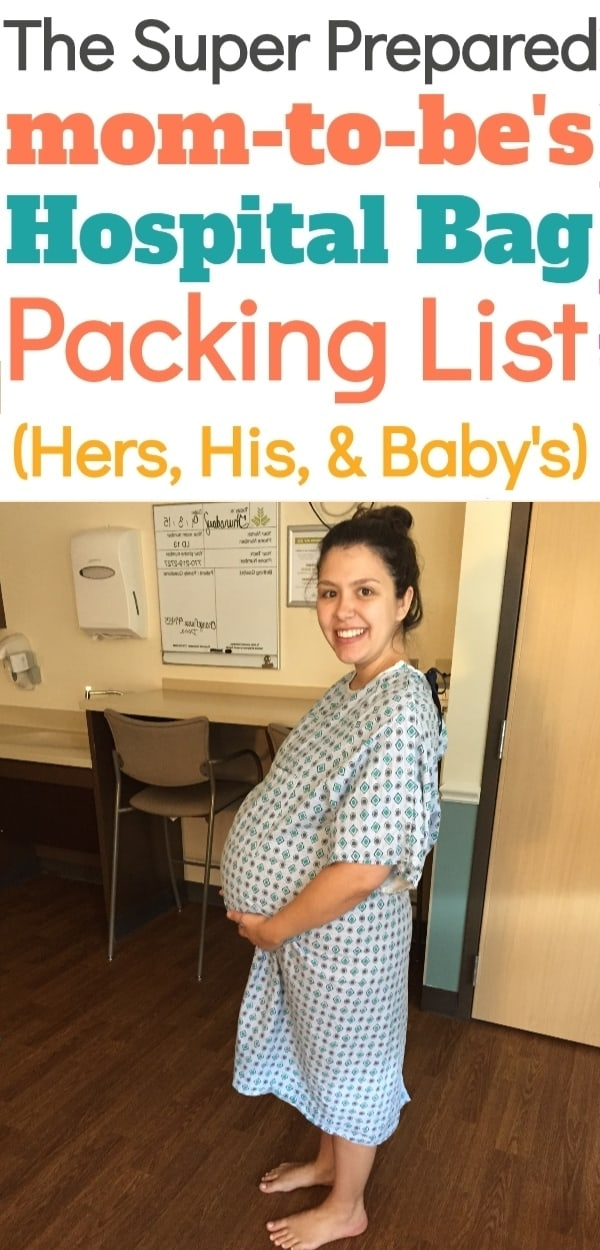 Hospital Bag Checklist for Mom-To-Be, Baby, & Dad