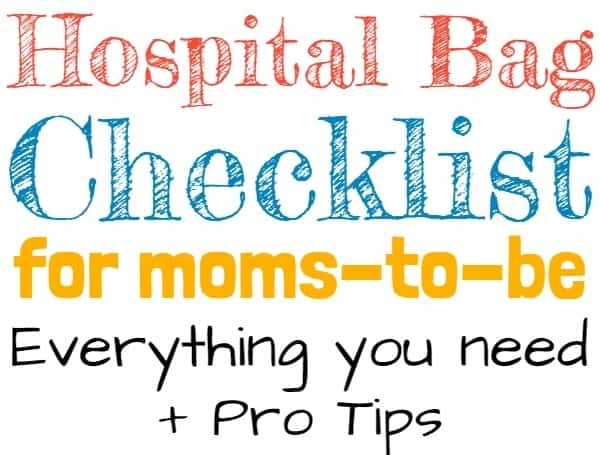 Hospital Bag Checklist for moms-to-be! What to pack in your hospital bag for mom, baby, and dad. Pro tips and everything you need. #baby #pregnancy #thirdtrimester #hospitalbagchecklist #pregnant #babies #newmom #labor #birth