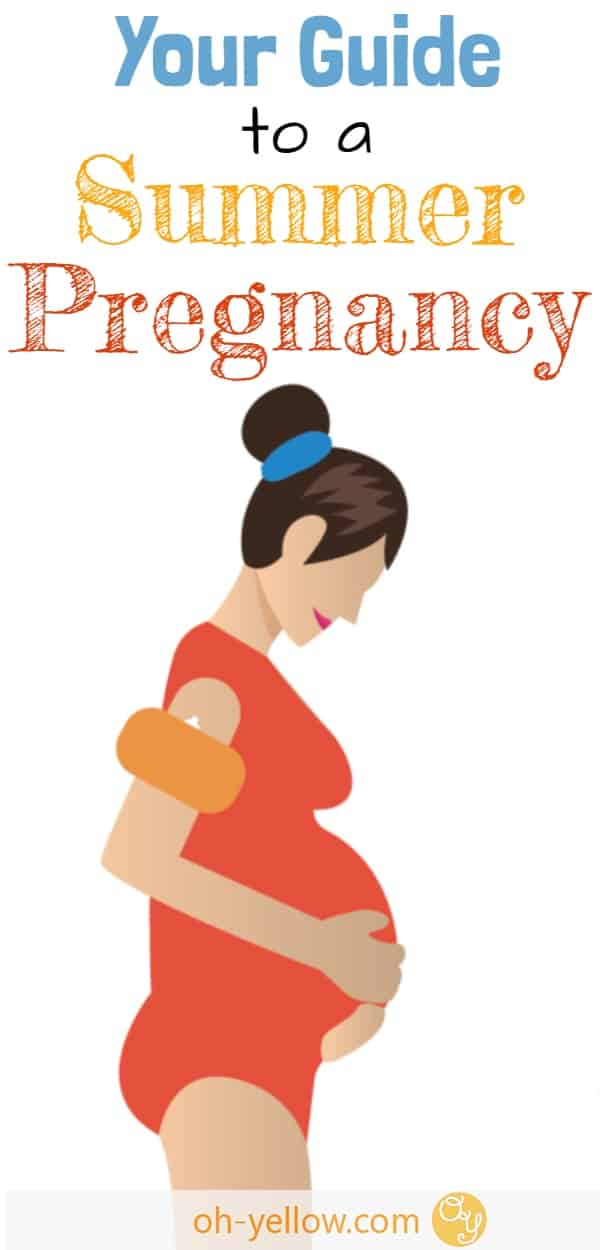Pregnant woman during a summer pregnancy
