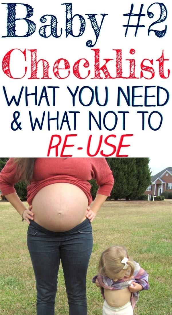 Second Baby Checklist