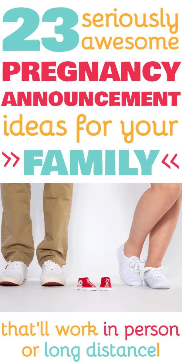 Pregnancy Announcement to Family and Grandparents